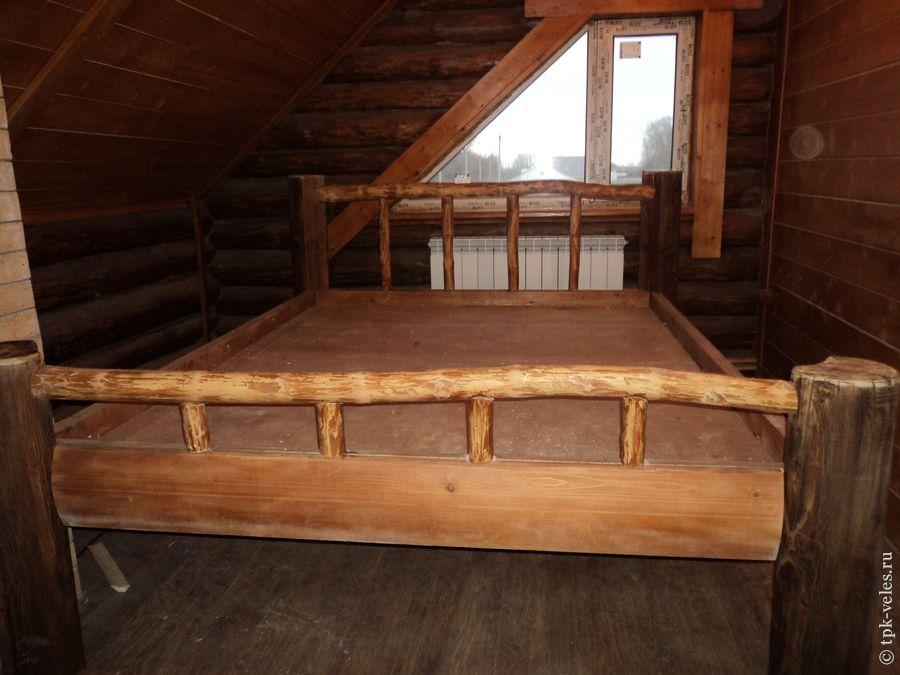 Кровать из брёвен своими руками фото 84