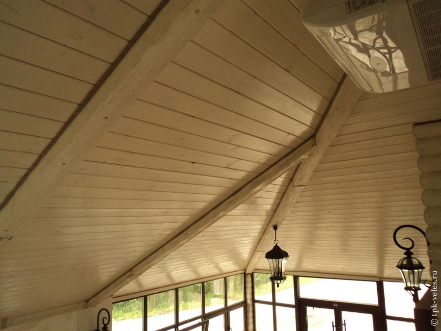 Потолок из имитации бруса своими руками 51